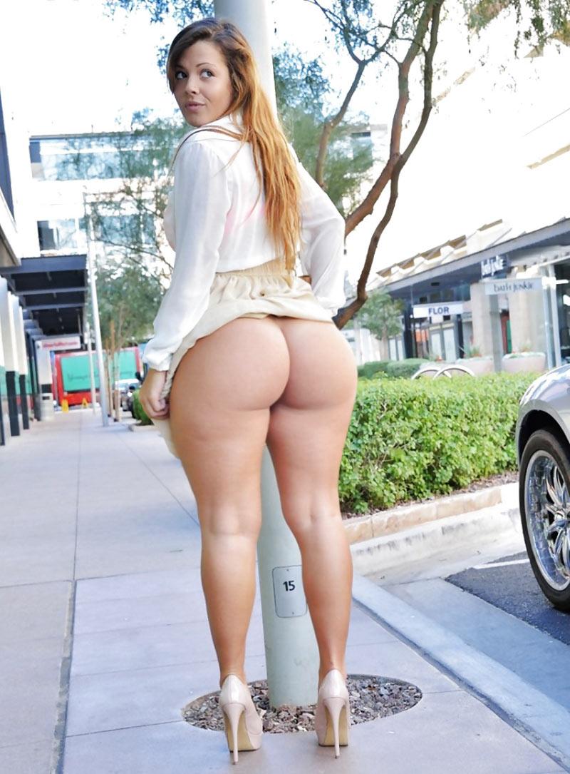 Смачная жопа на улице
