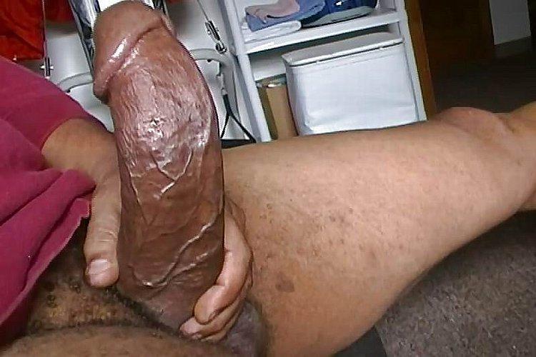 Черный толстый хуй